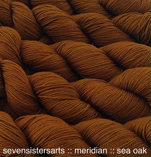 Sea Oak, I just love the richness of this elegant muted gold,color A in the Seaweed color series, semi-solid. Goes well with teals, purple & reds.