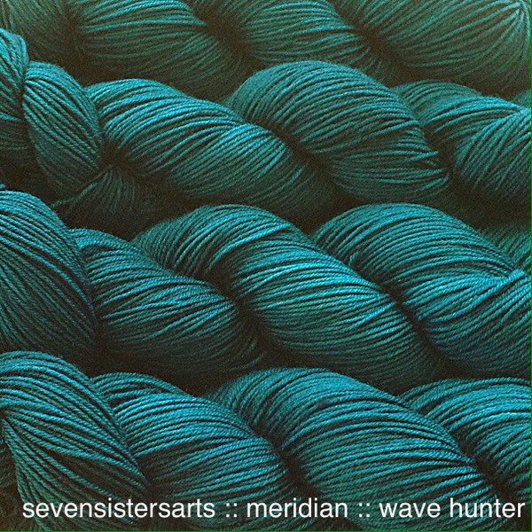 Wave Hunter, a dark clear teal, named for a special surfer in my life. Color F in the Marine color series. Semi-solid.
