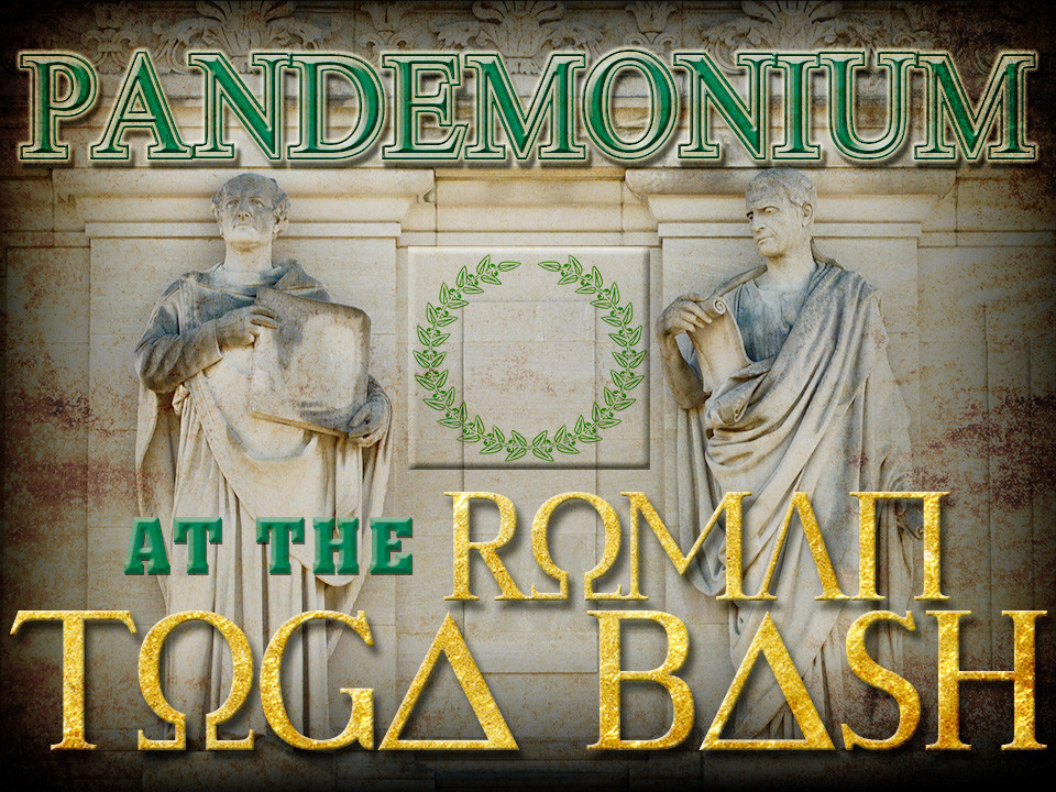 Roman Toga mystery party game