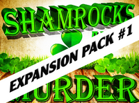 St. Patrick's Day mystery party game expansion pack - Shamrocks and Murder