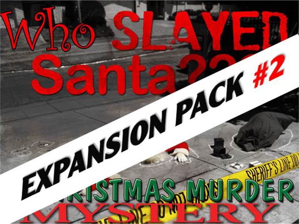Who slayed Santa? Christmas mystery party game