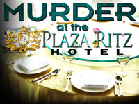 Murder at the Plaza Ritz Hotel large group corporate murder mystery party for 50-100+ guests