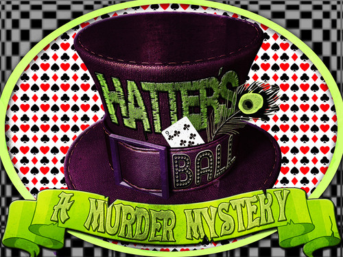 Hatter's Ball murder mystery party game boxed set version