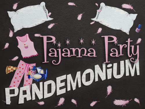 Pajama party pandemonium - a fun teen mystery game.