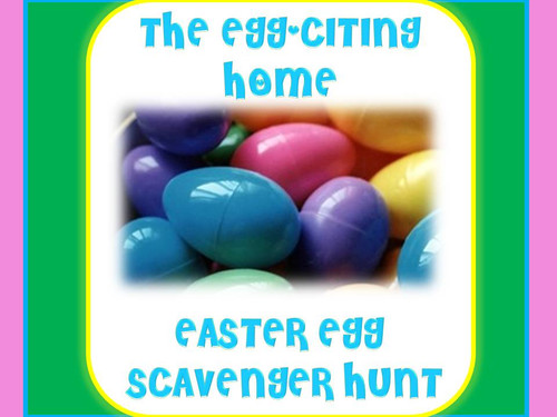 Easter home scavenger hunt game