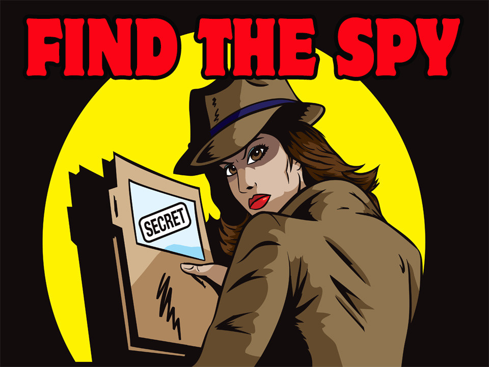 Find the Spy Miss Crimson mystery party
