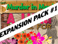 Expansion pack #1 for Maui Luau mystery party game