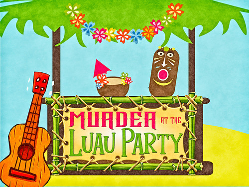 Luau party murder mystery party game
