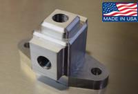 4.8 5.3 6.0 LS1 LS style 3 way Turbo Oil feed Adaptor Oil pressure Temperature s