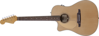 Fender Sonoran SCE, Left Hand, Cutaway Electric, Natural, Solid Spruce Top, Fishman Preamp with Built-In Tuner