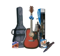 Ashton D25CEQL Acoustic Guitar (w/ Pickup) Starter Pack - Left Handed  Guitar World AUSTRALIA