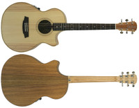 ole Clark Angel 2 AN2EC-BB Bunya Face Blackwood back & sides, cutaway & 3 way pickup