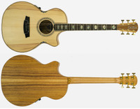 Cole Clark Angel 3 AN3EC-BB Bunya Face Blackwood back & sides, cutaway & 3 way pickup