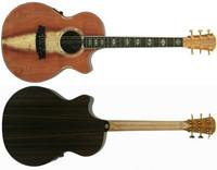 Clark Angel 3 AN3EC-RDRW Redwood Face Rosewood back & sides, cutaway & 3 way pickup