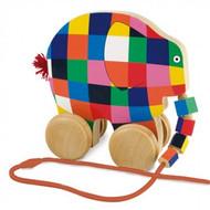 Elmer the Elephant Wooden Pull Along