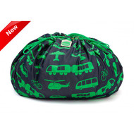 Brikbag in Green Busy City Print Lego
