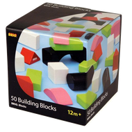 Brio 50 Colour Wooden Building Blocks 30156