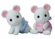 Sylvanian Families White Mouse Twins