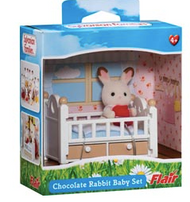 Sylvanian Chocolate Rabbit Baby Set