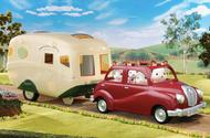 Sylvanian Family Saloon Car and Caravan