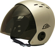 Gath Full Retractable Visor Helmet - Silver