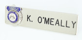 Name Plate - Department of Corrections (Allow 3 to 4 weeks)