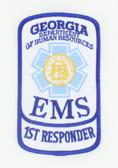 Georgia EMS Patch - First Responder Rocker
