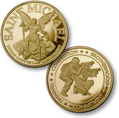Saint Michael - SWAT 2 MerlinGold® Challenge Coin