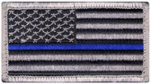 Blue Line US Flag Patch - Velcro
