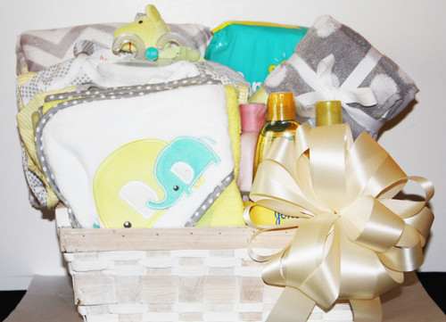 Baby gift basket timeless gifts and baskets baby gift basket image 1 negle Image collections