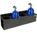 Clear One Racing Garage and Trailer Organizers 4 Bay 10 lb. Nitrous Bottle Rack TC249
