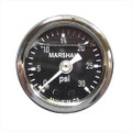 "Big End Performance 1 1/2"" 0-30 PSI Pressure Gauges - Black 15021"