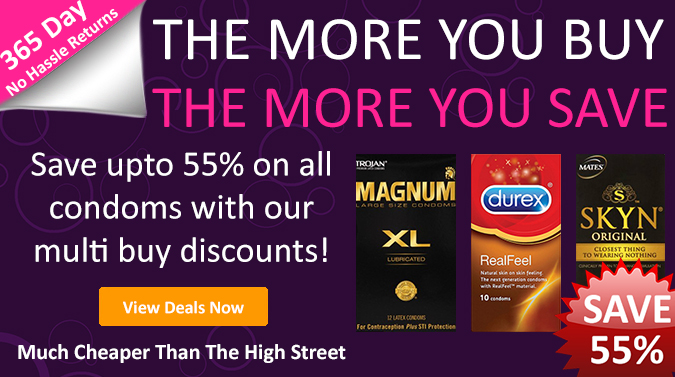Save upto 55% on all condoms now - Click Here