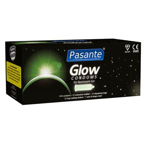 Pasante Glow Bulk Condoms (144 Pack)