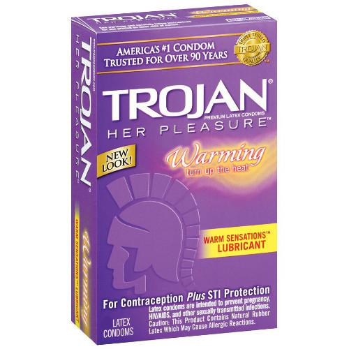 Trojan Her Pleasure Warm Sensations Condoms (10 pack)