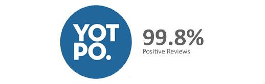 99.8% Positive Customer Feedback