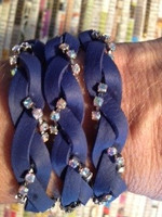 Wrapalicious! - Blue with Crystal AB / Silver toned cupchain
