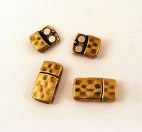 10mm Hammered Magnetic Clasp AB