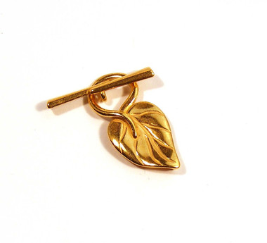 Gold Plated Leaf Toggle