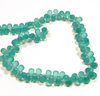 6X4mm Drops - Matte Teal