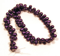 6X4mm Drops - Metallic Suede Purple