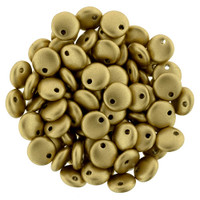 6mm Lentil - Matte Metallic Flax