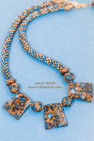 Blueberry - Mosaic Necklace Kumihimo Kit