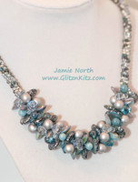 Crystal Blue Moon Necklace Kit