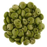 6mm Lentil - Op Olive Marbled Gold