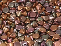 Button Beads - Purple Iris Gold