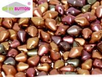 Spiky Button - Purple Iris Gold