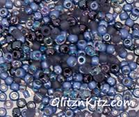 Tanzanite Tremors - Sz 8 Seed Bead Mix