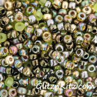 Zesty Olive - Sz 8 Seed Bead Mix