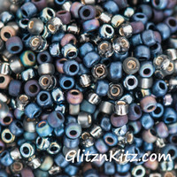 Stormy Weather - Sz 8 Seed Bead Mix